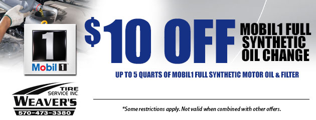 $10.00 Off Mobil1 Full Synthetic Oil Change