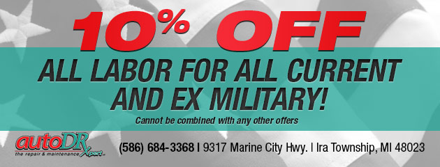 10% Off All Labor for All Current and Ex Military!