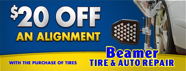 $20 off alignment with the purchase of tires