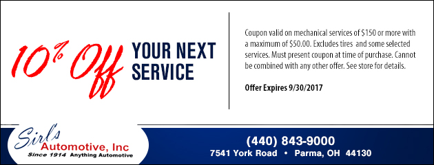 10% Off Your Next Service