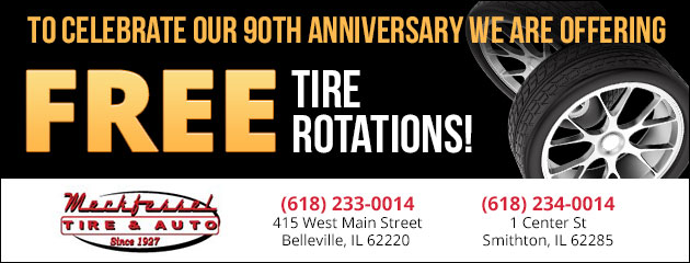 90th Anniversary FREE TIRE ROTATIONS