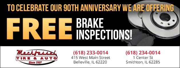 90th Anniversary FREE BRAKE INSPECTIONS