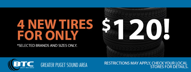 4 New Tires for Only $120!