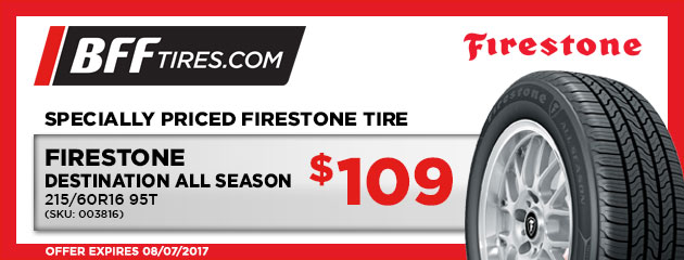 Firestone Destination All Season - $109