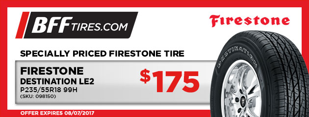 Firestone Destination LE2- $175