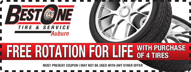 Free Rotation for life with the purchase of 4 tires
