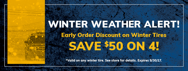 Save $50 On 4 Winter Tires