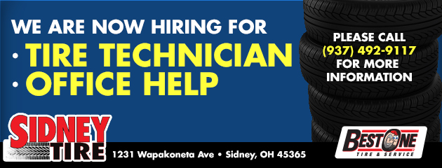 Now Hiring For Tire Technician and Office Help
