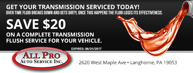 Get Your Transmission Serviced Today