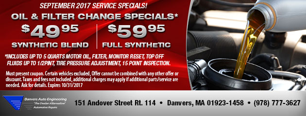 Oil & Filter Change Specials