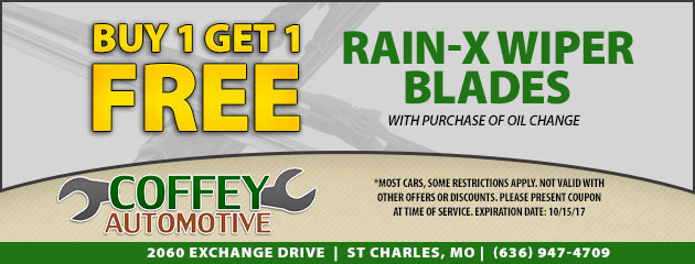 Buy One Get One Free Rain-X Wiper Blades