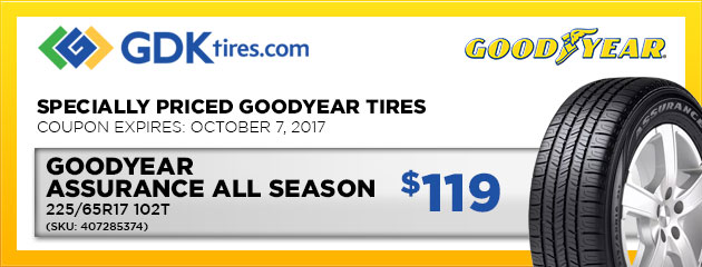 Goodyear Assurance All Season - $119