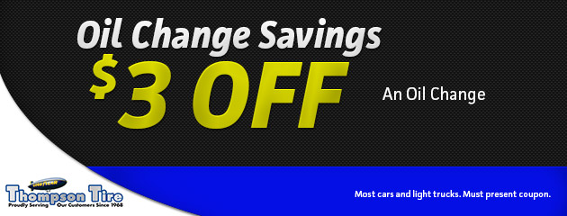 $3.00 Off An Oil Change