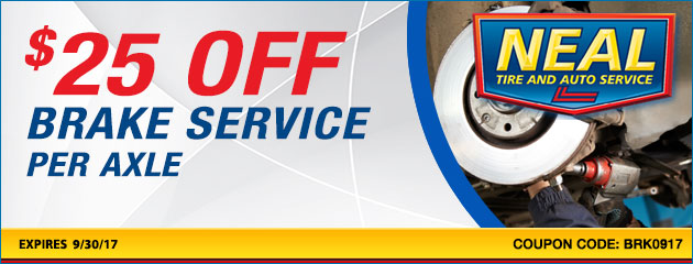 $25 dollars off brake service per axle