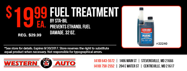 FUEL TREATMENT By STA-BIL Special