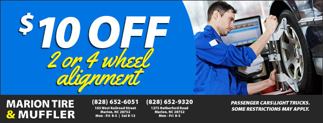 $10 Off 2 or 4 Wheel Alignment