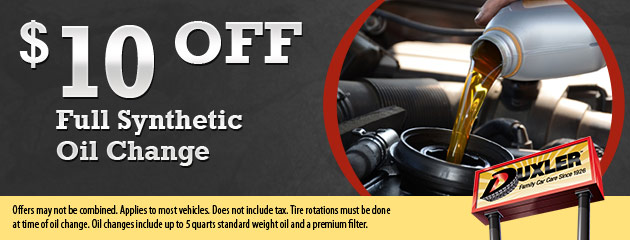 $10 Off Full Synthetic Oil Change