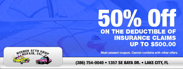 50% Off Insurance Claims