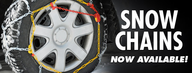 Snow Chains Now Available!