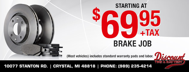 Brake Job Starting at $69.95
