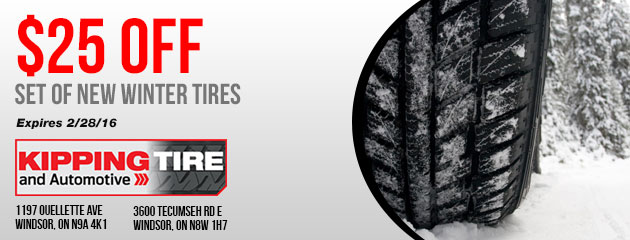$25 off set of New Winter Tires