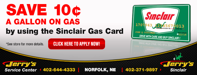 Save with the Sinclair Gas Card