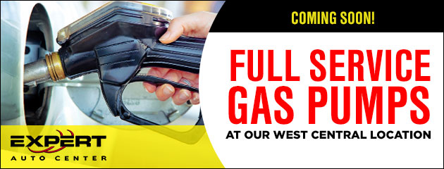 Coming Soon! Full Service Gas Pumps at our West Central Location