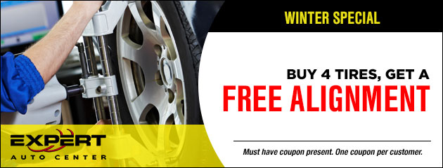 Buy 4 Tires - Get a free Alignment