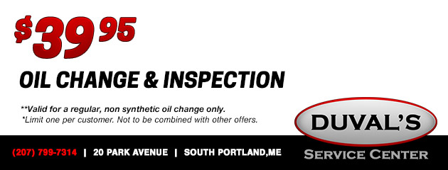 $39.95 Oil Change & Inspection
