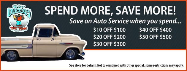 Spend More, Save More on Auto Service!