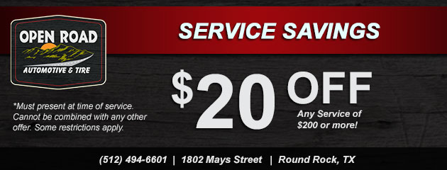 Service Savings! $20 Off Any Service $200 or more