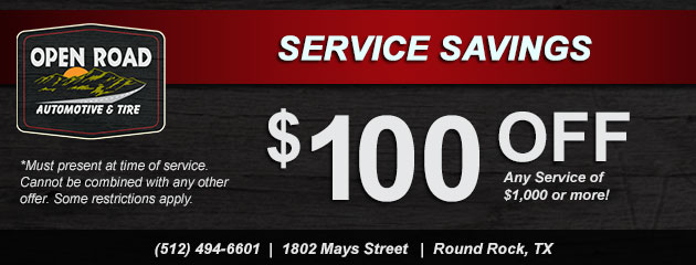 Service Savings! $100 Off Any Service $1000 or more