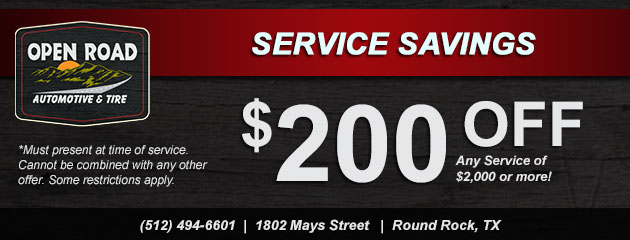 Service Savings! $200 Off Any Service $2000 or more