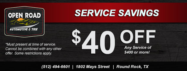 Service Savings! $40 Off Any Service $400 or more