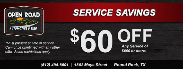 Service Savings! $60 Off Any Service $600 or more