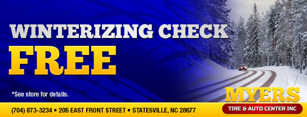 Free Winterizing Check