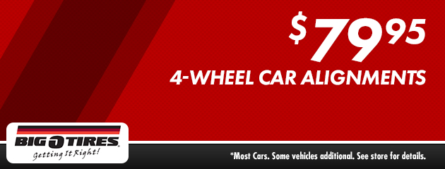 $79.95 4-Wheel Car Alignment