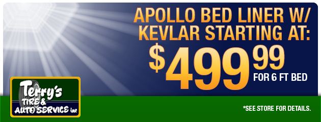 Apollo Bed liner w/ Kevlar Starting @499.99 for 6 ft bed