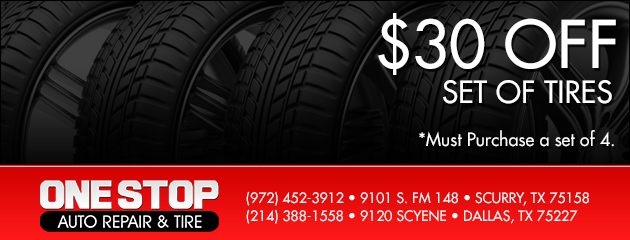 $30 Off A Set of 4 Tires