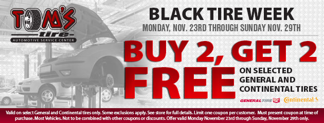 Black Tire Week Special - Buy 2 Get 2 Free!