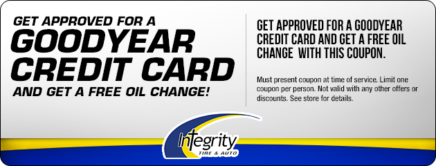 Get approved for a Goodyear Credit Card and get a free oil change