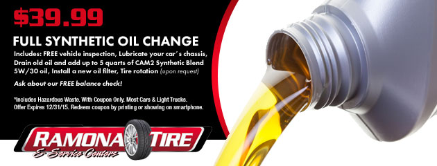 $39.99 Full Synthetic Oil Change