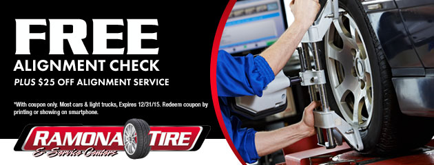 Free Alignment Plus $25 off Alignment Service