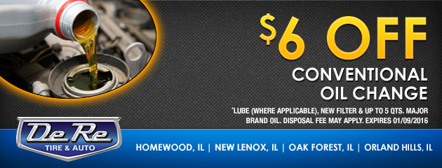 $6 Off Conventional Oil Change
