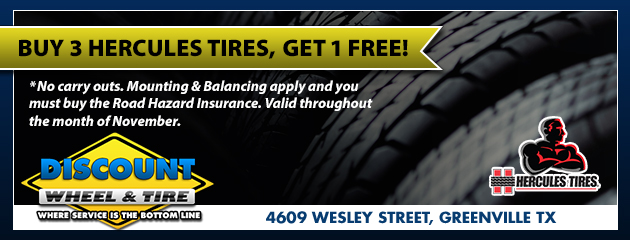 Save on Hercules Tires for the month of November