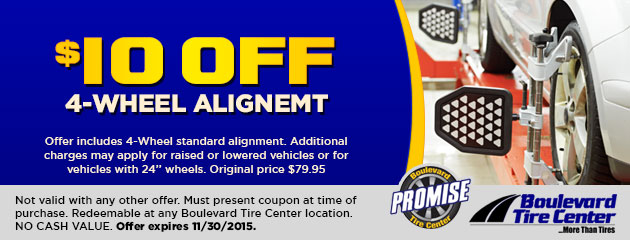 $10 Off an Alignment Coupon