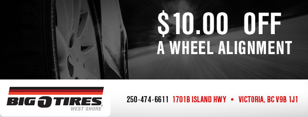 $10.00 Off Wheel Alignment