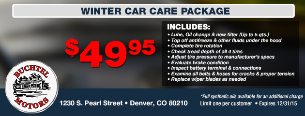 $49.95 Winter Car Care Pacakge Coupon