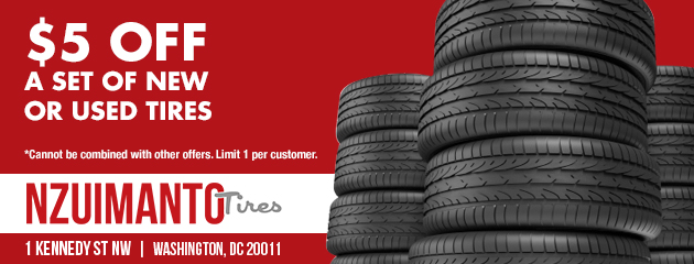 $5.00 Off a Set of New or Used Tires