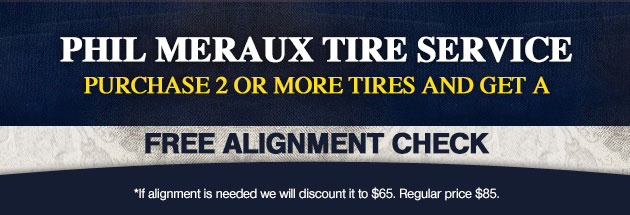 Purchase 2 or more tires and get a Free Alignment Check Coupon